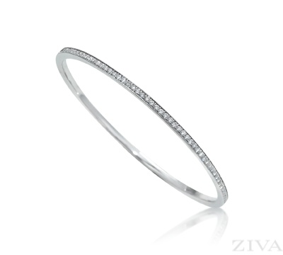 bangles lyst in ileana jewelry diamond product makri bangle gold white karat thread eternity normal ring