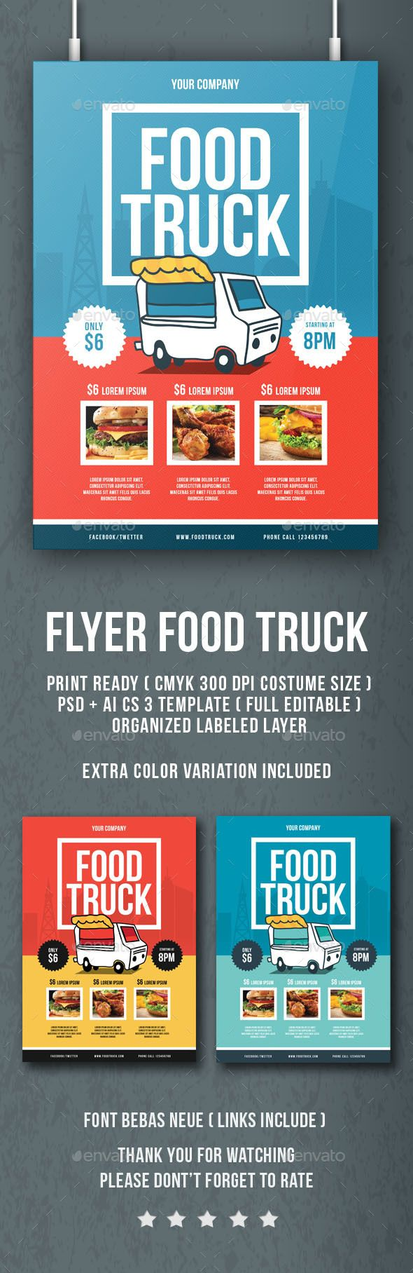 Flyer Food Truck - Flyers Print Templates