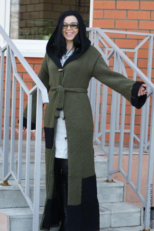 Купить Пальто вязаное  женское  Chess Queen - пальто, пальто женское, пальто…