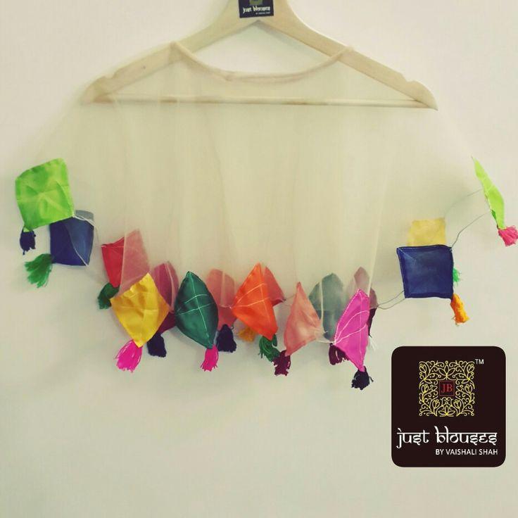 #kaipoche #uttarayancollection #kiteslove #kitesfever #colourfulkites #capewithkites #classy #stylish #trendy #justblousesbyvaishalishah