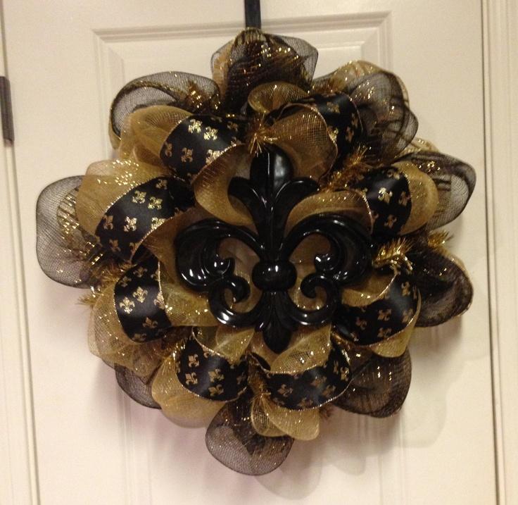 Best images about new orleans saints wreath decor on