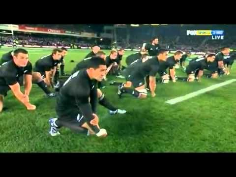 NZ rugby team All Blacks doing the Haka before a match. I'm always sad about how short these are. I could watch these guys do the haka all day long. ;)