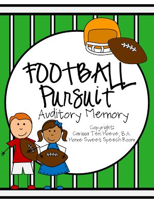 Home Sweet Speech Room : Football Pursuit: An Auditory Memory Activity for Speech Therapy