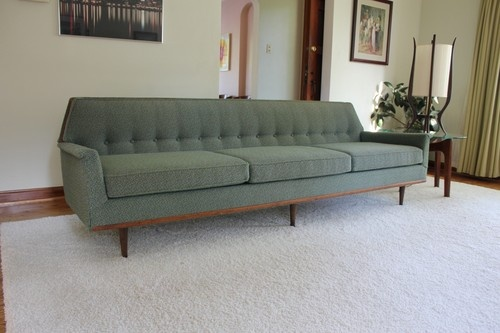 Large Mid Century Danish Modern Sofa, couch