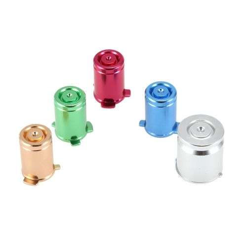 Metal Aluminum ABXY and Power Key Bullet Buttons Colorful Kits for Xbox 360 Controller Gamepad Replacement