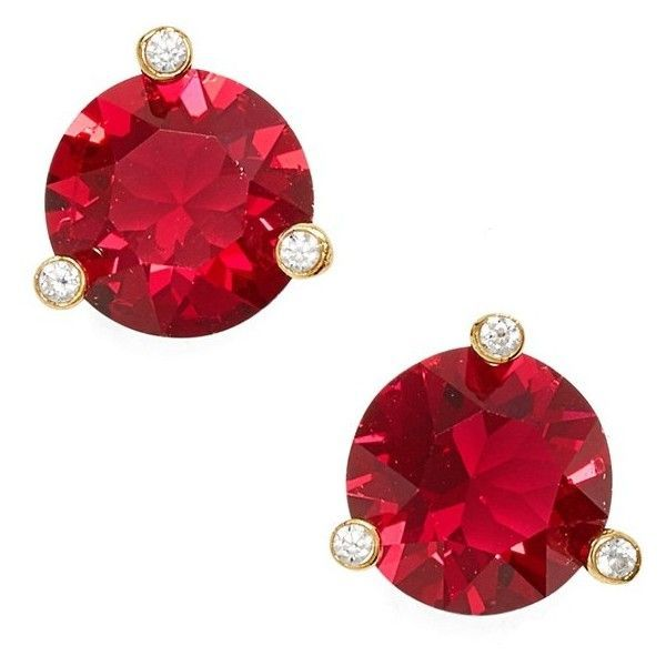 Women's Kate Spade New York 'Rise & Shine' Stud Earrings ($29) ❤ liked on Polyvore featuring jewelry, earrings, ruby, kate spade earrings, polish jewelry, stud earrings, earring jewelry and sparkly earrings
