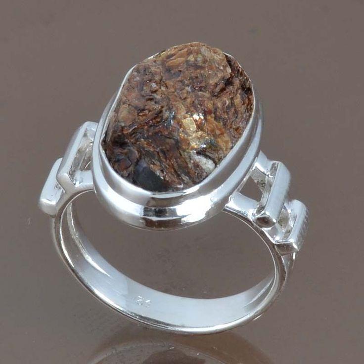 925 STERLING SILVER NEW STYLISH ASTROPHYLITE DRUZY RING 5.15g DJR9074 SZ-6 #Handmade #Ring