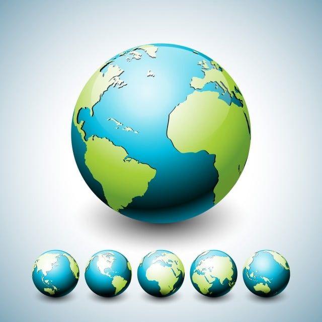 الكرة الأرضية التوضيح مع كوكب على ستة أشكال مختلفة خريطة العالم رمز أو مجموعة تصميم رمز على مفهوم البيئة تصميم ناقلات ل العالم ملصق أو بطاقات المعايدة أرض Pn Modele De