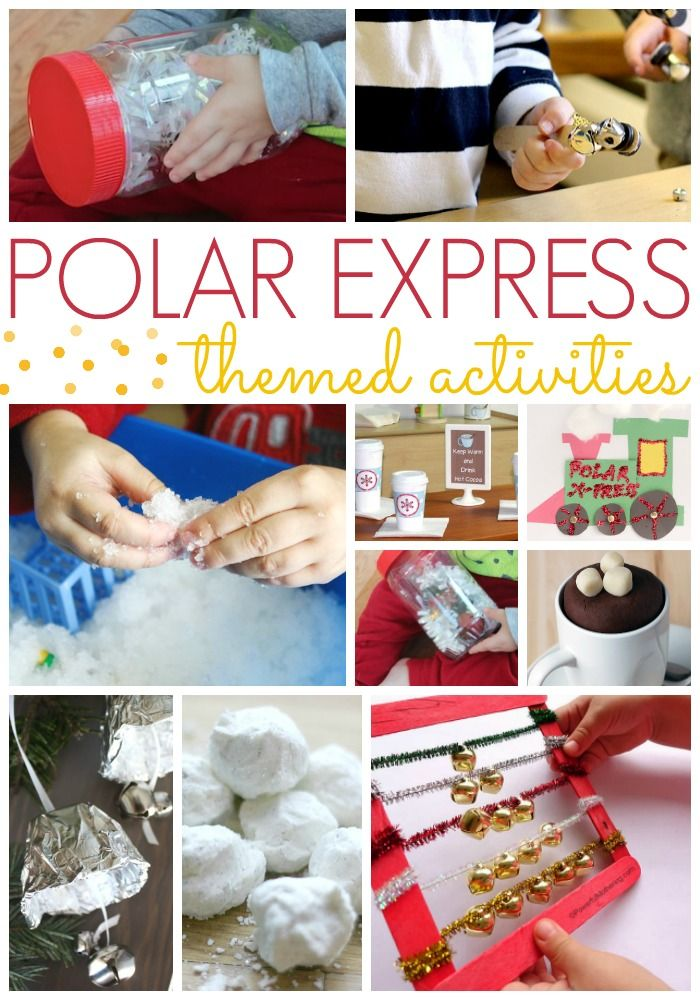 Polar Express theme activities to explore and extend the book The Polar Express by Chris Van Allsburg; for preschool, pre-k, and kindergarten