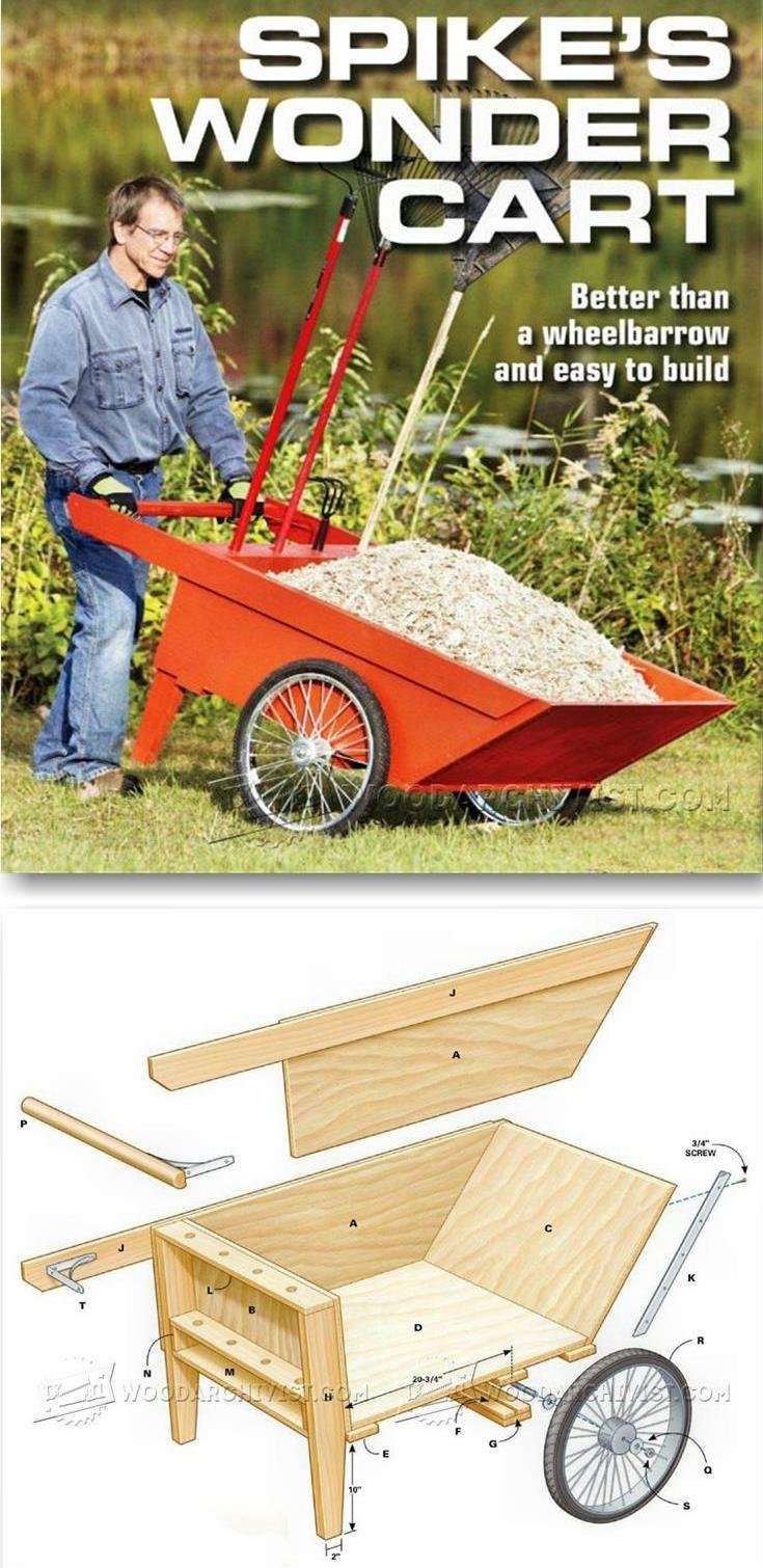DIY Garden Cart - Outdoor Plans and Projects | WoodArchivist.com