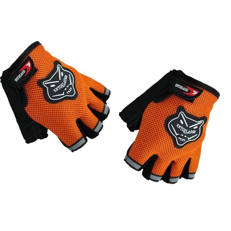 2 Pair Cool Unisex Cycling Gloves Men Sports Half Finger Anti Slip Gel Pad Motorcycle MTB Road Bike Gloves Orange Bicycle Gloves
