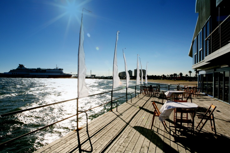 The deck at Port Melbourne Yacht Club