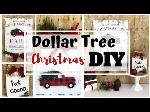 Christmas 2020 Youtube Dollar Tree Christmas DIYs | Farmhouse Christmas 2020   YouTube in