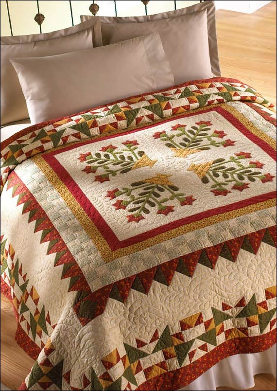 Summer Melody quilt pattern bordercreekstation.com  - applique