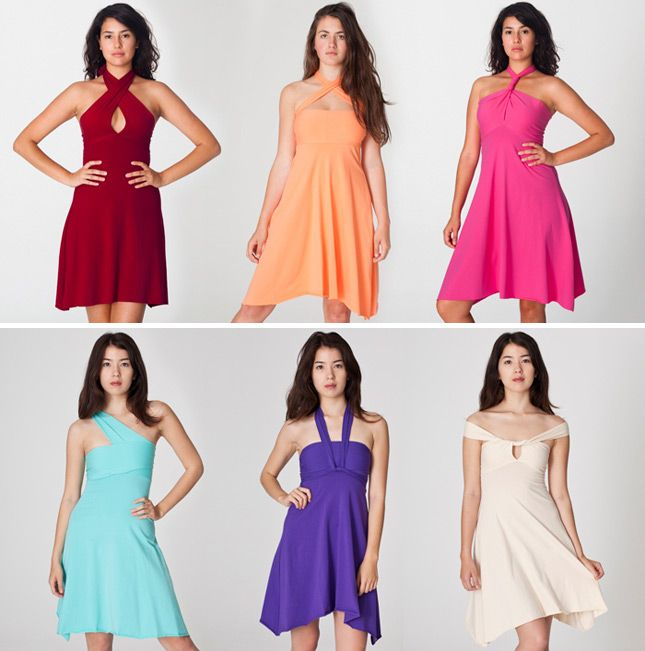 Convertible Cotton Spandex Bandeau Dress   12 Chic Pieces of Convertible Clothing
