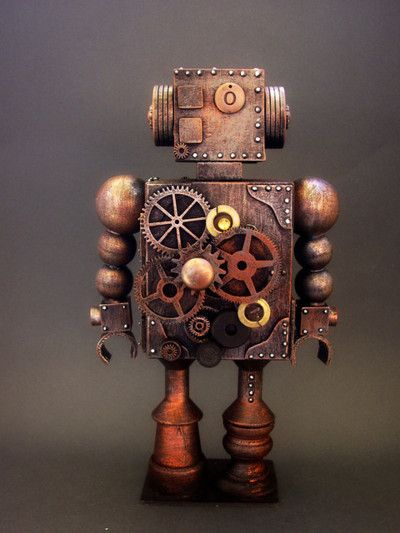A little automaton; perhaps created by using Al-Jazari's Book of Knowledge of Ingenious Mechanical Devices...