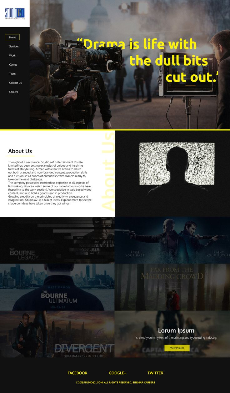Website for a production house.