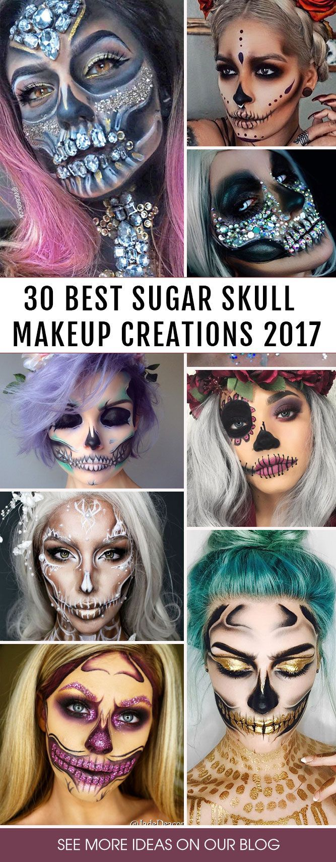 Sugar skull makeup is not something that everyone will be able to replicate. But once you master the art, there will be no turning back! In a good sense. #Costumes