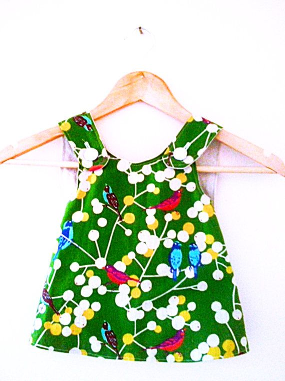 Girl's pinafore dress 6  12months and beyond Japanese by LOLAsHome, $35.00