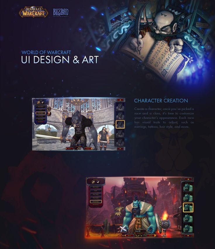 World of Warcraft: UI Design on Behance