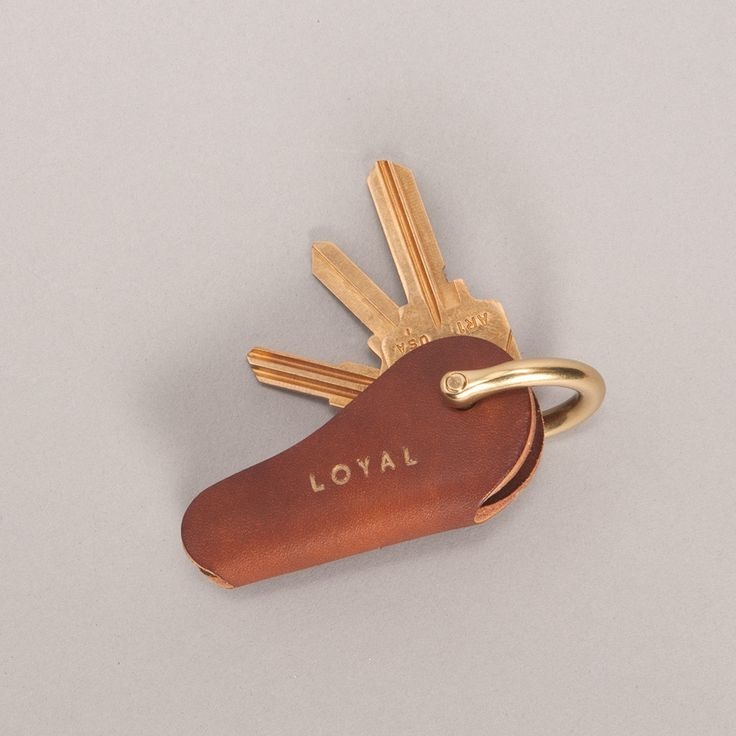 Loyal Supply Co. Leather Key Holster - Brown made in Somerville, MA