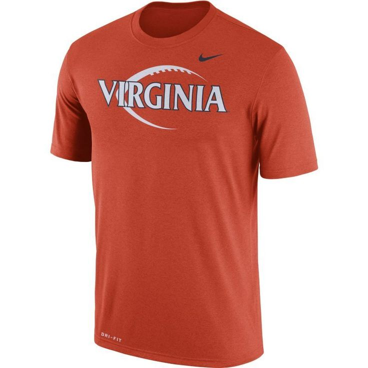 Nike Men's Virginia Cavaliers Orange Football Icon Legend T-Shirt, Size: Medium, Team