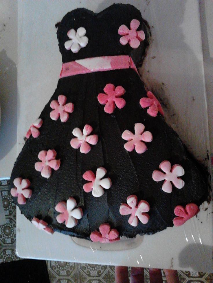 50's dress cake