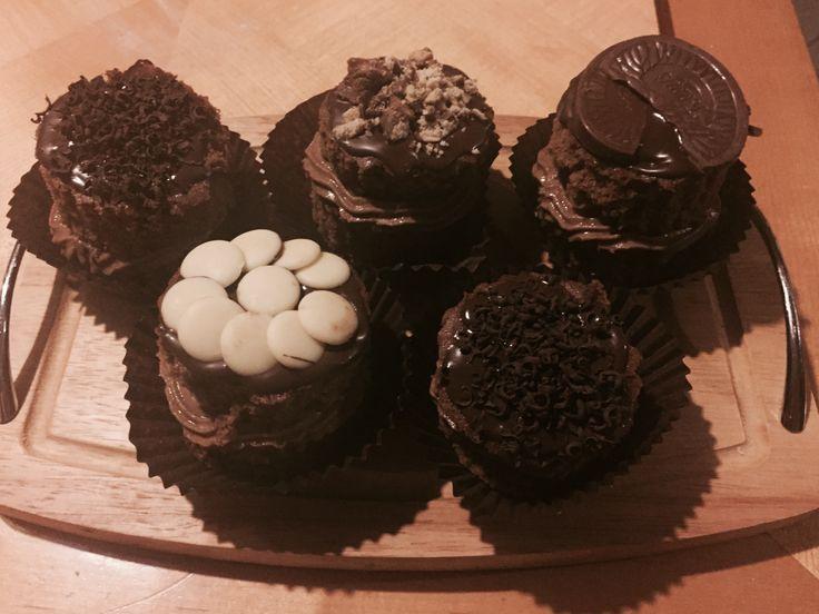 CK! Mega chocolate cupcakes.