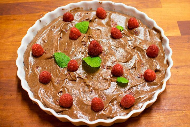 vegansk sjokoladeterte oppskrift