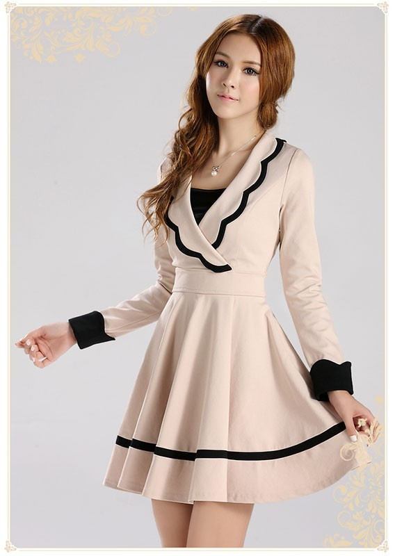 Mango Doll - Scallop V-Neck Dress , $66.00 (http://www.mangodoll.com/all-items/scallop-v-neck-dress/)