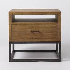 Afbeeldingsresultaat voor wooden night stand