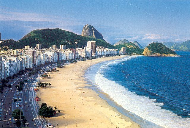 Copacabana Beach, Rio de Janeiro, BrazilBeautiful Cities, Brazil Beach, Favorite Places, Copacabana Beachrio, Apanema Copacabana, Rio Brazil, Rio De Janeiro, South America, American Travel
