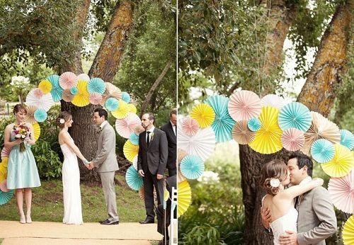 Decoração do altar nos casamentos civis: ideias mil