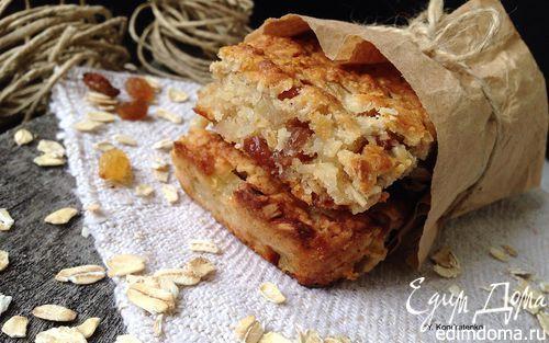 Овсяные батончики с яблоком и изюмом | Кулинарные рецепты от «Едим дома!»