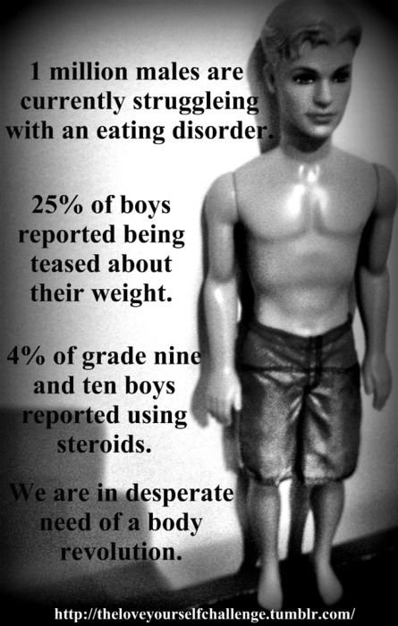 Remember.  Eating Disorders awareness and the programs that help people with a disorder are not just for women and girls... | RePinned by CamerinRoss.com