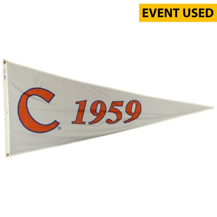 Clemson Tigers Fanatics Authentic Baseball Event-Used 1967 Pennant Season Flag