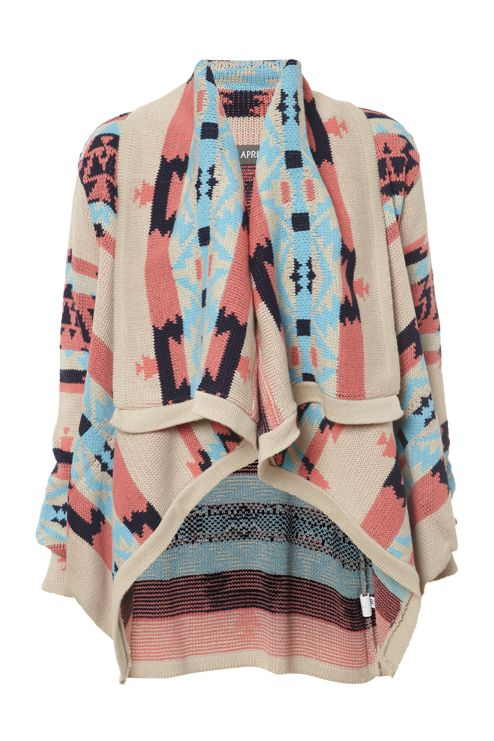 for fall: Fashion, Chunky Sweaters, Aztec Prints, Riding Boots, Aztec Cardigans, Tribal Prints, Prints Sweaters, Tribal Pattern, Aztec Sweaters