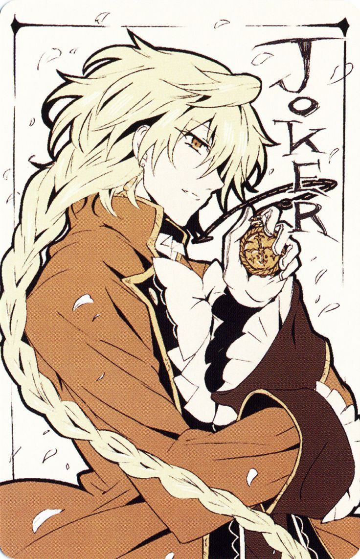 Pandora Hearts- Oh my gosh, Jack being the joker in a deck of cards is so appropiate