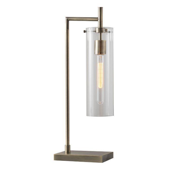 24 Dalton Table Lamp Brass Adesso In 2020 Edison Bulb Table Lamp Lamp Table Lamp