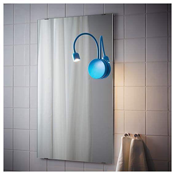 Ikea Blavik Led Wandlampe Batteriebetriebene Blau Amazon De