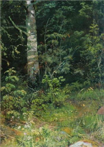 Ivan Shishkin (1832-1898): Birch and mountain ash, 1878