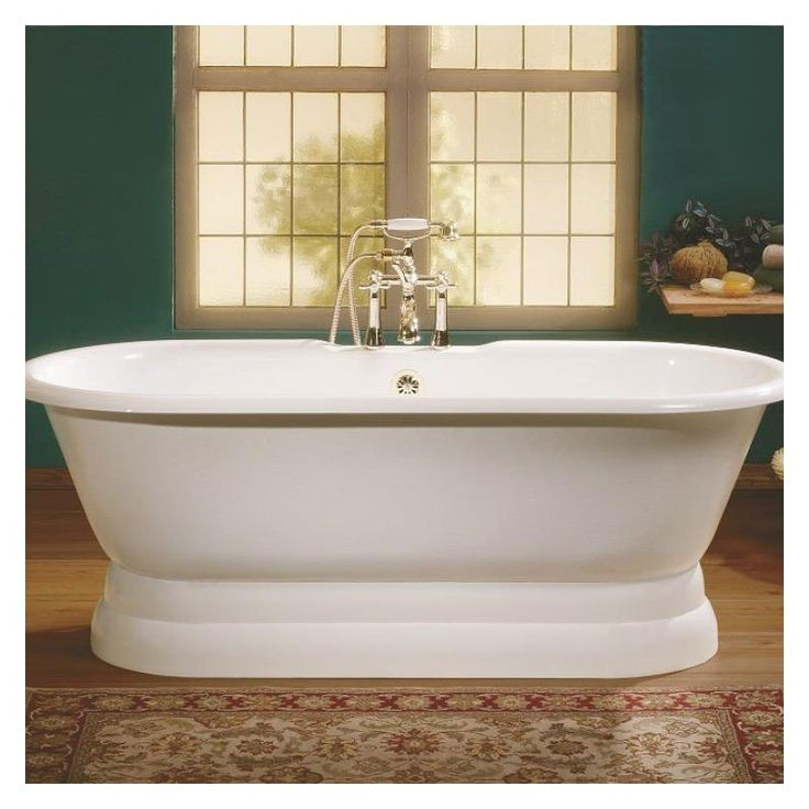 Cheviot Regal Junior Double Ended Bath With Pedestal   No Faucet Drillings
