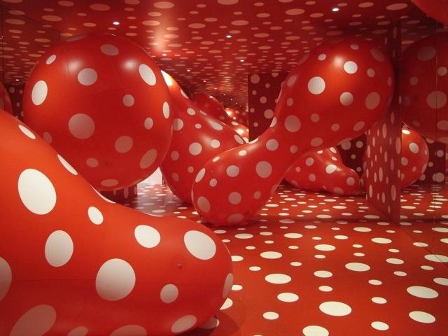 Stunning installation art of Yayoi Kasuma, special exhibit at the GoMA (Gallery of Modern Art) in Brisbane.