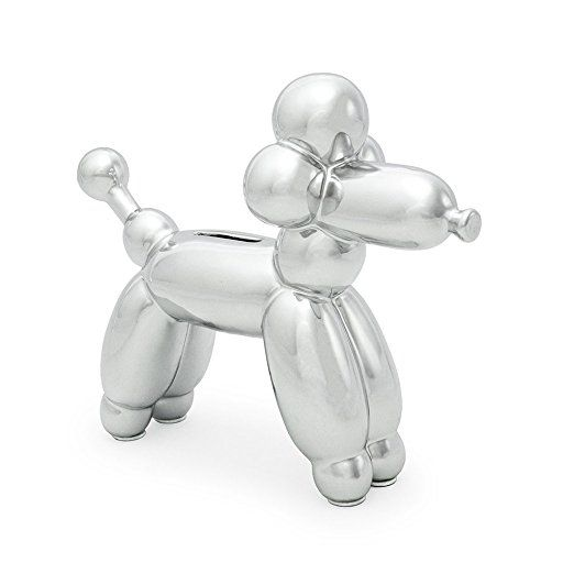 Made By Humans Balloon French Poodle Balloon Dog Money Bank - i Silver (other colors available too) #balloondog #poodle