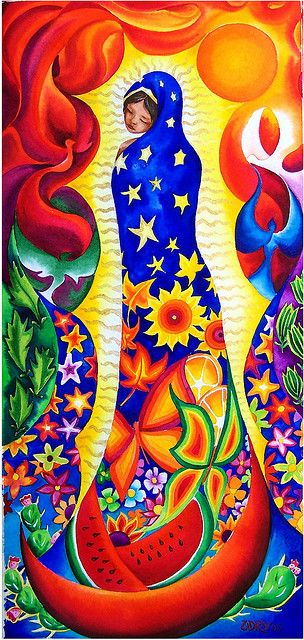 Virgen de Guadalupe by rosyna hernandez, via Flickr