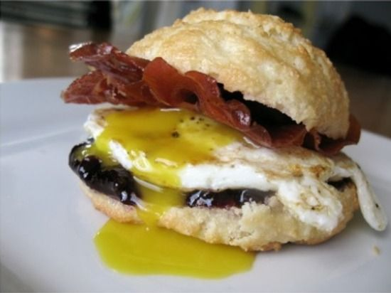 Grain-Free Biscuits Served With Bacon Egg and Cheese   (gluten-free)