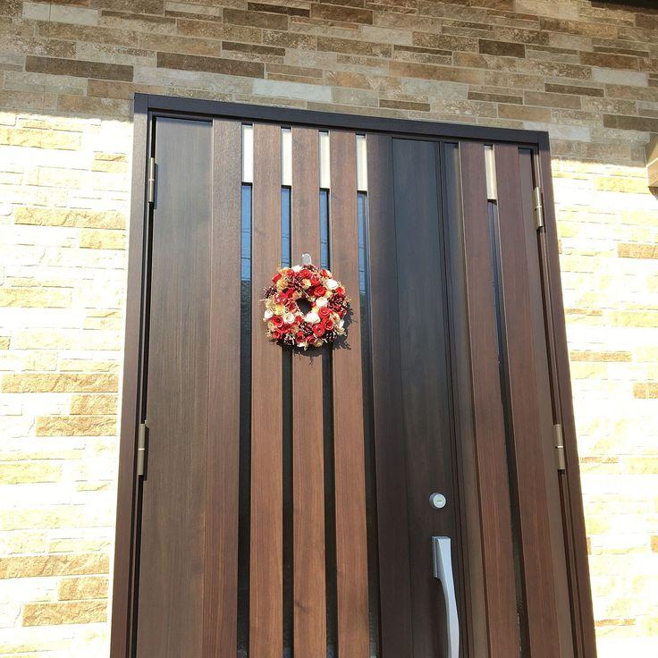 親子ドア×リクシルの玄関ドアのインテリア実例 | RoomClip (ルーム ... Entrance/Francfranc/クリスマス/Christmas/クリスマスリース/親子ドア/新築一戸建て