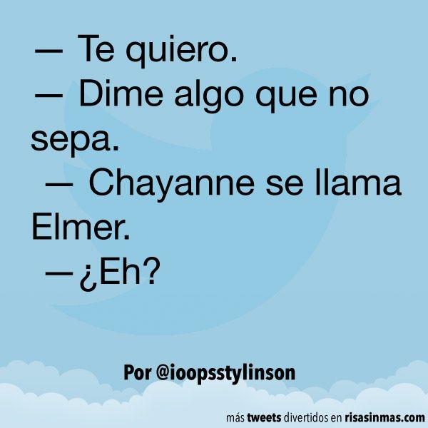 Chayanne se llama Elmer. #humor #risa #graciosas #chistosas #divertidas