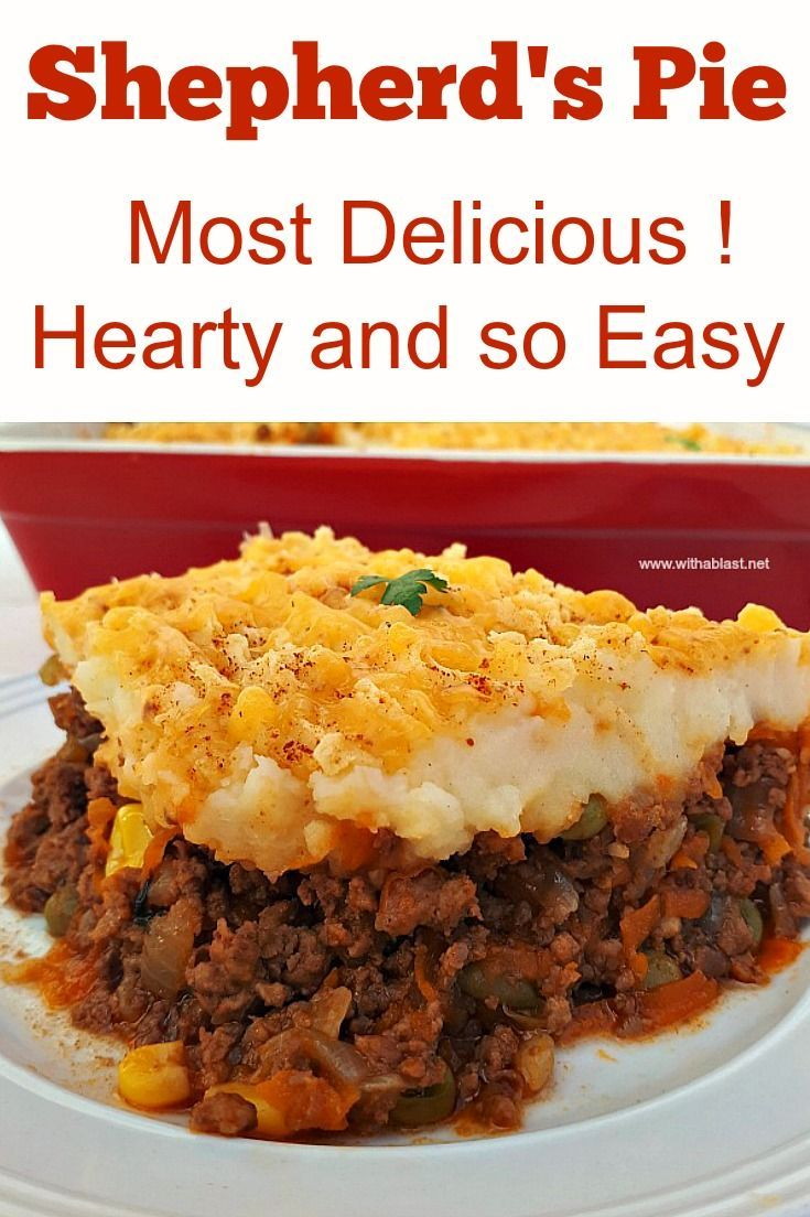 Hearty Shepherd S Pie In 2020 Recipes Shepherds Pie Easy Drink Recipes