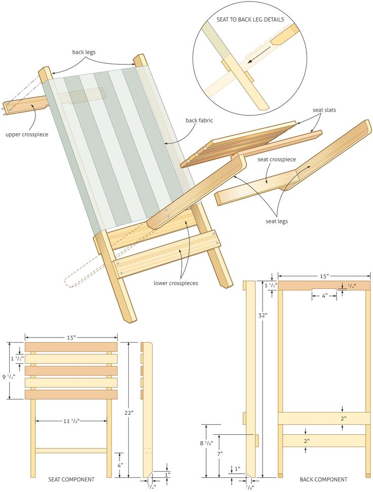 Folding Beach Chair Woodworking Plans Woodshop Plans